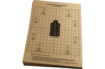 Rite in the Rain 25 METER ZEROING TARGET, Tan, 8 1/2 x 11 9125