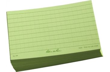Rite in the Rain 3X5 INDEX CARDS - GREEN, Green, 3 x 5 991