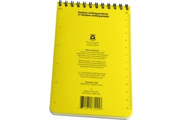 Rite in the Rain 4X6 NOTEBOOK - FLY FISHING, Yellow, 4 x 6 1732