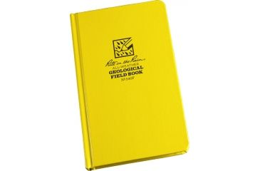 Rite in the Rain BOUND BOOK - FABRIKOID COVER - GEOLOGICAL, Yellow, 4 3/4 x 7 1/2 540F
