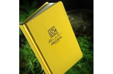 Rite in the Rain BOUND BOOK - FABRIKOID COVER - NUMBERED FIELD, Yellow, 4 3/4 x 7 1/2 350NF