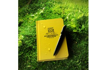Rite in the Rain BOUND BOOK - FABRIKOID COVER - POCKET ENVIRONMENTAL, Yellow, 4 1/4 x 6 3/4 550-4F