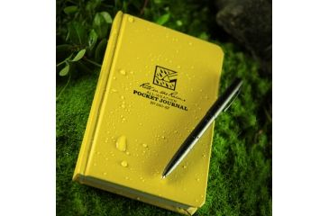 Rite in the Rain BOUND BOOK - FABRIKOID COVER - POCKET JOURNAL, Yellow, 4 1/4 x 6 3/4 390-4F