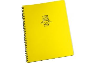 Rite in the Rain MAXI-SPIRAL NOTEBOOK - FIELD, Yellow, 8 1/2 x 11 353-MX