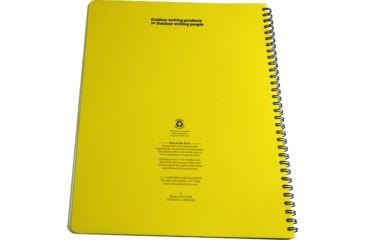 Rite in the Rain MAXI-SPIRAL NOTEBOOK - METRIC FIELD, Yellow, 8 1/2 x 11 363-MX