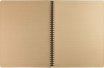 Rite in the Rain MAXI-SPIRAL NOTEBOOK - TAN - UNIVERSAL, Tan, 8 1/2 x 11 973T-MX