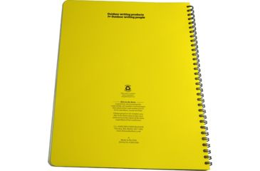 Rite in the Rain MAXI-SPIRAL NOTEBOOK - TOPUNIVERSAL, Yellow, 8 1/2 x 11 185