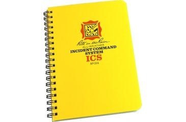 Rite in the Rain SPIRAL NOTEBOOK - ICS, Yellow, 4 5/8 x 7 214