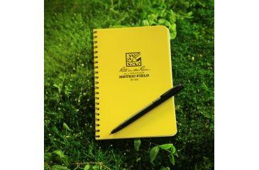 Rite in the Rain SPIRAL NOTEBOOK - METRIC FIELD, Yellow, 4 5/8 x 7 363