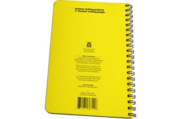 Rite in the Rain SPIRAL NOTEBOOK - METRIC GRID, Yellow, 4 5/8 x 7 383
