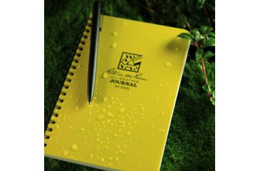 Rite in the Rain SPIRAL NOTEBOOK - NUMBERED JOURNAL, Yellow, 4 5/8 x 7 393N