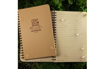 Rite in the Rain SPIRAL NOTEBOOK - TAN - UNIVERSAL, Tan, 4 5/8 x 7 973T
