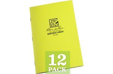 Rite in the Rain STAPLED NOTEBOOK - METRIC GRID, Yellow, 4/5/8 x 7 381