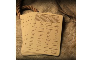 Rite in the Rain TACTICAL REFERENCE CARDS  - TAN, Tan, 4 5/8 x 7 9200T-R