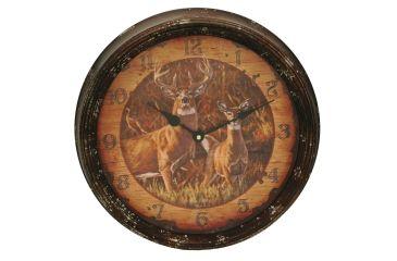 River's Edge 15in. Diameter Metal Clock, Buck and Doe 195110
