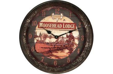 River's Edge 15in. Diameter Metal Clock, Moosehead 195117