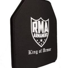 3-RMA Armament Level IV Single-Curve Ballistic Rifle Plate, 10x12in