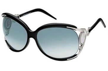 Roberto Cavalli RC443S Perla Sunglasses - Shiny Black Frame Color, Gradient Smoke Lens Color