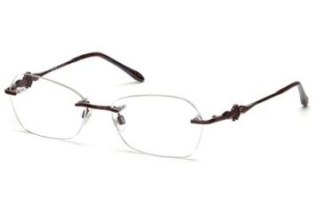 Roberto Cavalli RC0718 Eyeglass Frames - Shiny Bordeaux Frame Color