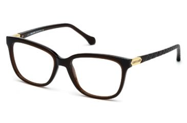 Roberto Cavalli RC0751 Eyeglass Frames - Shiny Dark Brown Frame Color