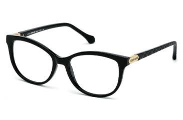Roberto Cavalli RC0752 Eyeglass Frames - Shiny Black Frame Color