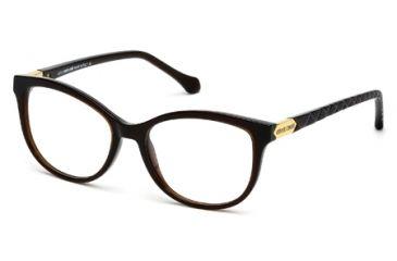 Roberto Cavalli RC0752 Eyeglass Frames - Shiny Dark Brown Frame Color