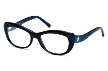 Roberto Cavalli RC0767 Eyeglass Frames - Shiny Blue Frame Color