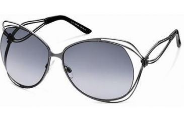 Roberto Cavalli RC527S Sunglasses - Shiny Gun Metal Frame Color, Gradient Smoke Lens Color