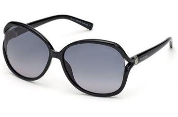 Roberto Cavalli RC668S Sunglasses - Shiny Black Frame Color, Gradient Smoke Lens Color