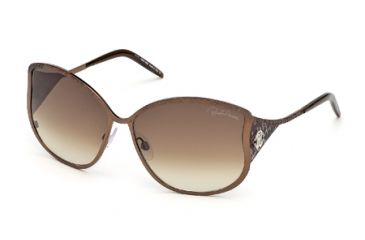 Roberto Cavalli RC671S Sunglasses - Shiny Dark Brown Frame Color, Gradient Brown Lens Color