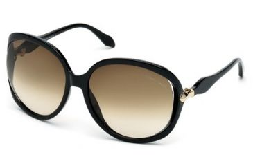 Roberto Cavalli RC732S Sunglasses - Shiny Black Frame Color, Brown Gradient Lens Color