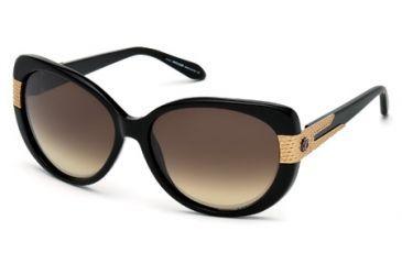 Roberto Cavalli RC745S Sunglasses - Shiny Black Frame Color, Brown Lens Color