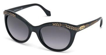 Roberto Cavalli RC789S Sunglasses - Shiny Black Frame Color, Gradient Smoke Lens Color