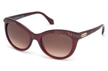 Roberto Cavalli RC789S Sunglasses - Shiny Violet Frame Color, Gradient Bordeaux Lens Color