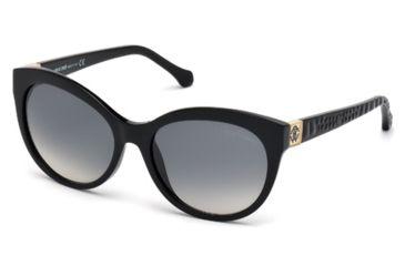Roberto Cavalli RC798S Sunglasses - Shiny Black Frame Color, Gradient Smoke Lens Color