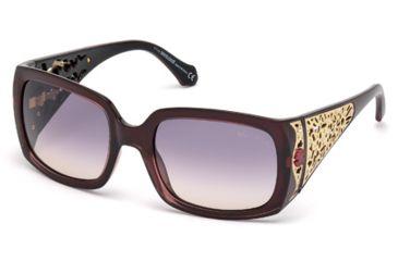 Roberto Cavalli RC804S Sunglasses - Shiny Bordeaux Frame Color, Gradient Smoke Lens Color