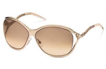 Roberto Cavalli Pirite Sunglasses Rose Gold Frame, Gradient Brown Lenses 30G
