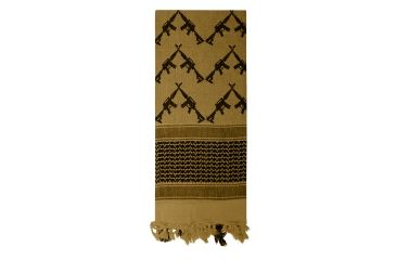 3-Rothco Crossed Rifles Shemagh Tactical Scarf