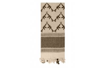 2-Rothco Crossed Rifles Shemagh Tactical Scarf