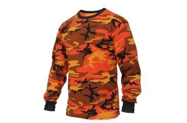 e1ddca5c Rothco Long Sleeve Colored Camo T-Shirt, Savage Orange Camo, Small, 3136