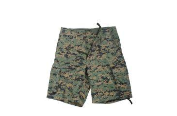 0621c81cad Rothco Vintage Camo Infantry Utility Shorts, Woodland Digital Camo, Extra  Small, 2610-