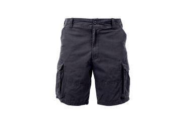 9789189ce6 Rothco Vintage Solid Paratrooper Cargo Short, Black, Small, 2130-Black-S
