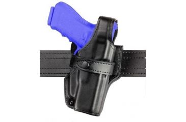 Safariland 070 Duty Holster, SSIII Mid-Ride, Level III Retention - Hi Gloss Black, Right Hand 070-430-91