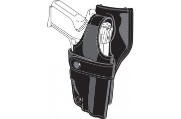Safariland 0705 Duty Holster, SSIII Low-Ride, Level III Retention - Hi Gloss Black, Right Hand 0705-75-91
