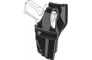 Safariland 0705 Duty Holster, SSIII Low-Ride, Level III Retention - Hi Gloss Black, Right Hand