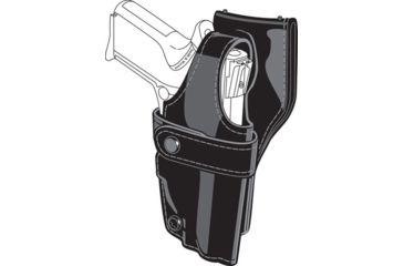 Safariland 0705 Duty Holster, SSIII Low-Ride, Level III Retention - Plain Black, Right Hand 0705-754-161