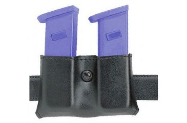 Safariland 079 Concealment Magazine Holder, Snap-On, Double - Plain Black, Ambidextrous, 2in. Belt Loop Slot 079-383-6-2