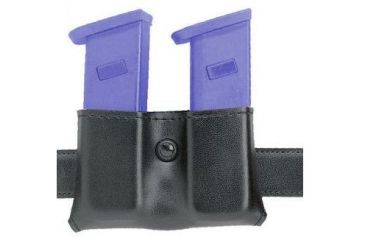 Safariland 079 Concealment Magazine Holder, Snap-On, Double - Plain Black, Ambidextrous, 2in. Belt Loop Slot 079-89-6-2
