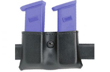 Safariland 079 Concealment Magazine Holder, Snap-On, Double - STX TAC Black, Ambidextrous, 2in. Belt Loop Slot 079-83-13-2