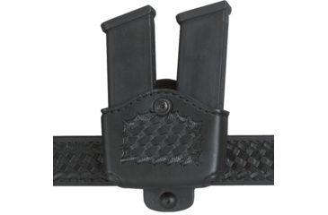 Safariland 177 Magazine Holder, Adjustable Belt Loop, Double - Basket Black, Left Hand 177-53-182-150